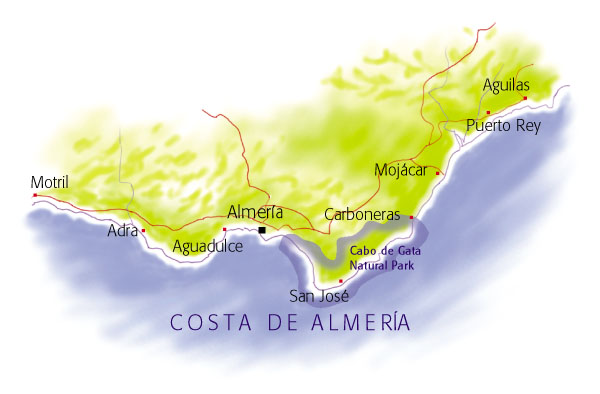 Villaseek map of Costa de Almeria
