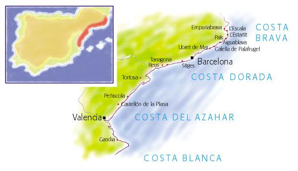 Costa De Azahar Spain Map.Villas In The Costa Brava Map And Search